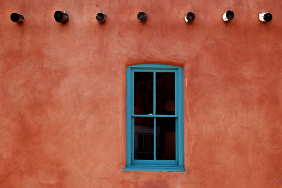 Adobe Home with Turquoise Window