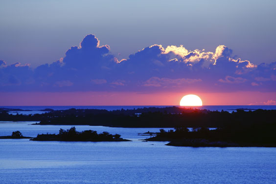 Stockholm Archipelago Islands at Sunset