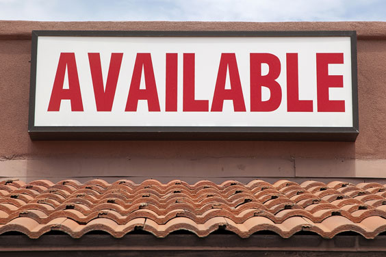 Stucco Building Available For Lease