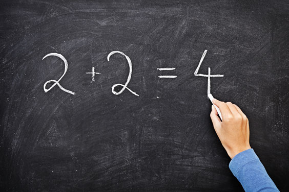 Arithmetic Equation on a Blackboard