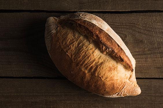 Bread on a Wood Board