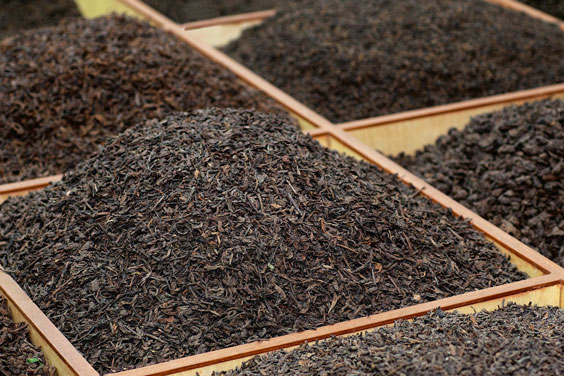Bulk Tea in a Tea Market
