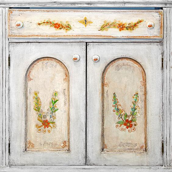 White Retro Cabinet