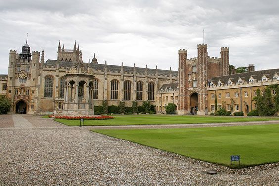Cambridge University under a Cloudy Sky
