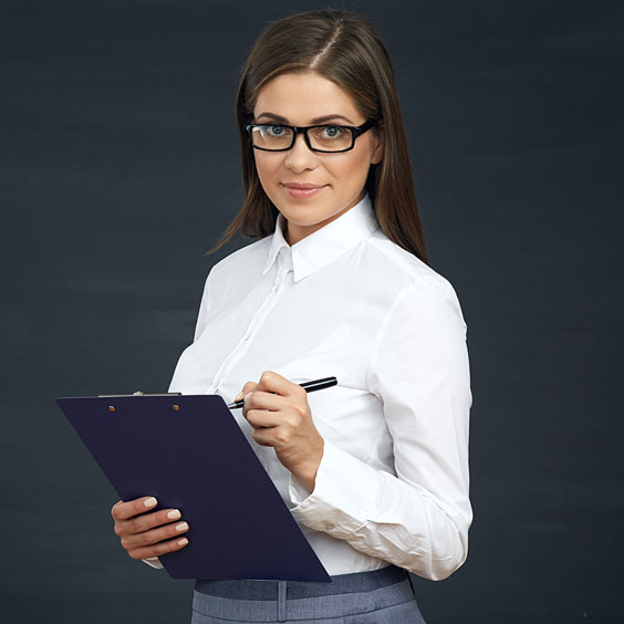 Female Census Worker with Notepad