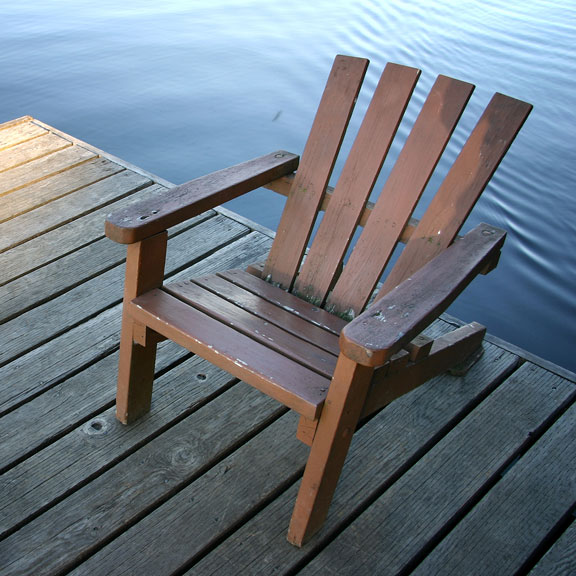 Wooden Chair on a Dock