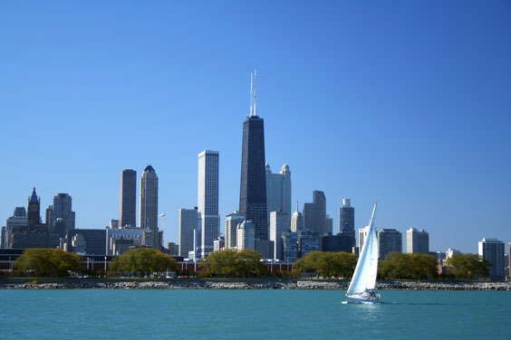 Chicago Skyline along Lake Michigan