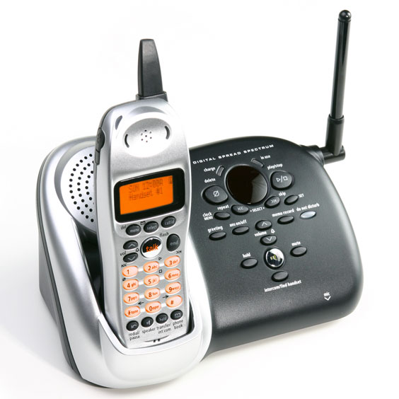 Cordless Phone Base with Handset