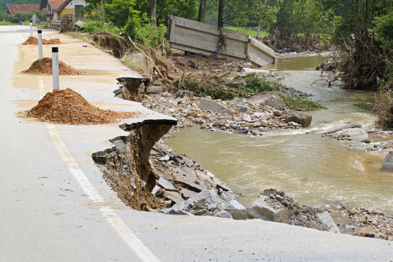 Flood Damage near a Creek