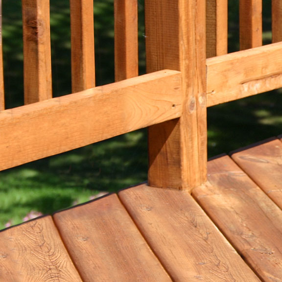 Wooden Deck Surface and Railing
