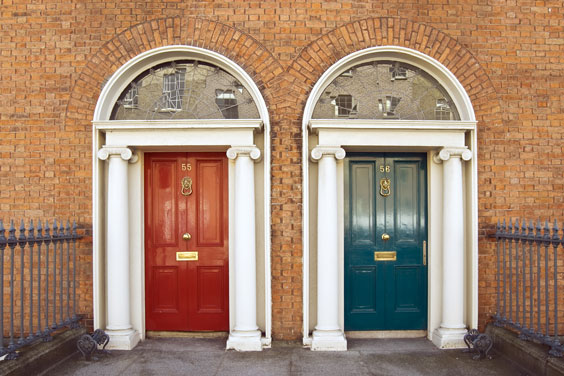 Georgian Doors in Dublin, Ireland