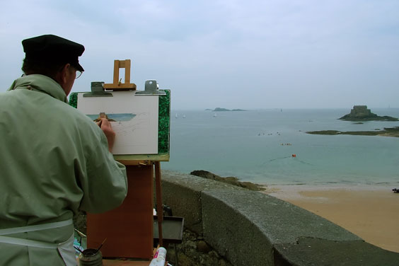 Artist and Easel
