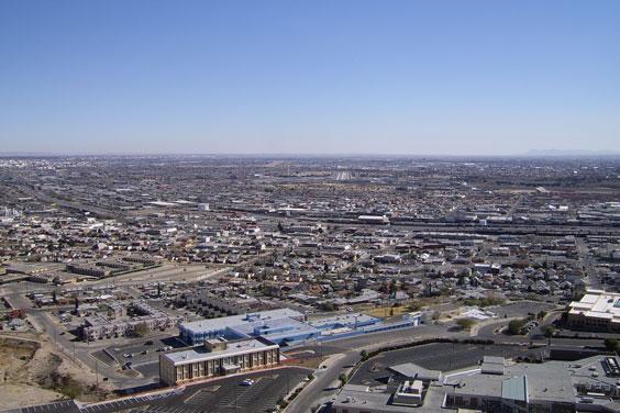 Aerial View of El Paso, Texas