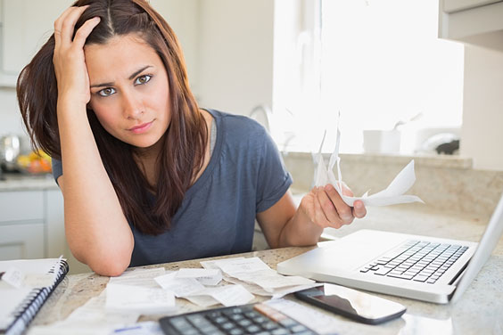 Young Woman Working on her Finances