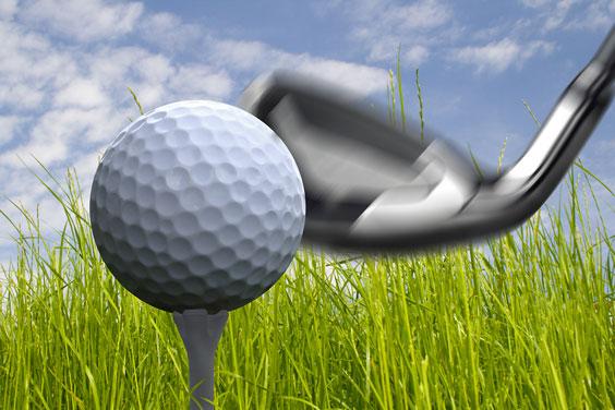 Golf Ball, Golf Club, and Golf Tee