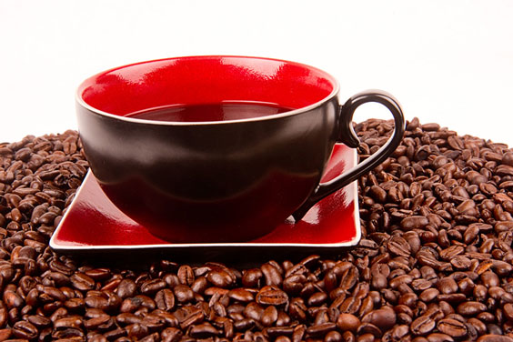 Cup of Java with Coffee Beans