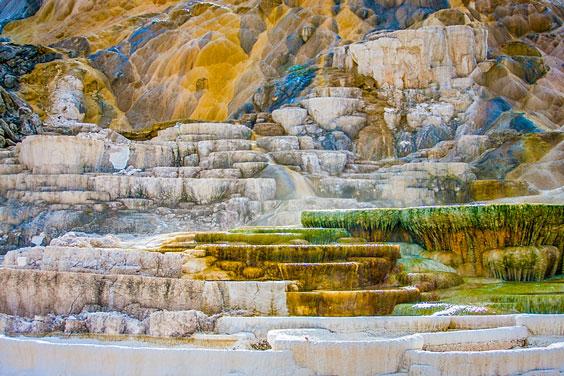 Limestone at Yellowstone National Park