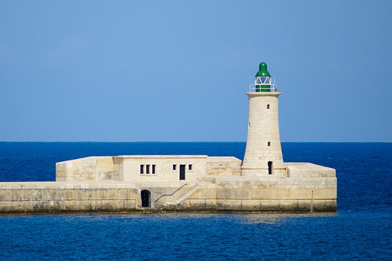 Lighthouse on the Mediterranean Sea