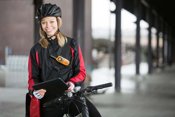 Female Bike Messenger