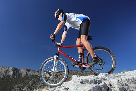 Mountain Bike against a Blue Sky
