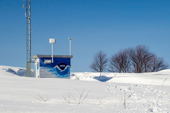NOAA Weather Station in Winter