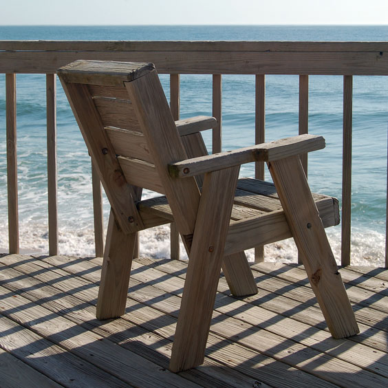 Oceanfront Deck and Chair