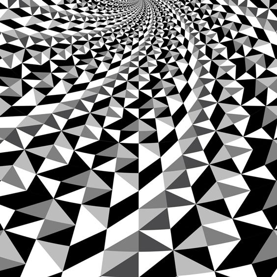Black and White Optical Illusion