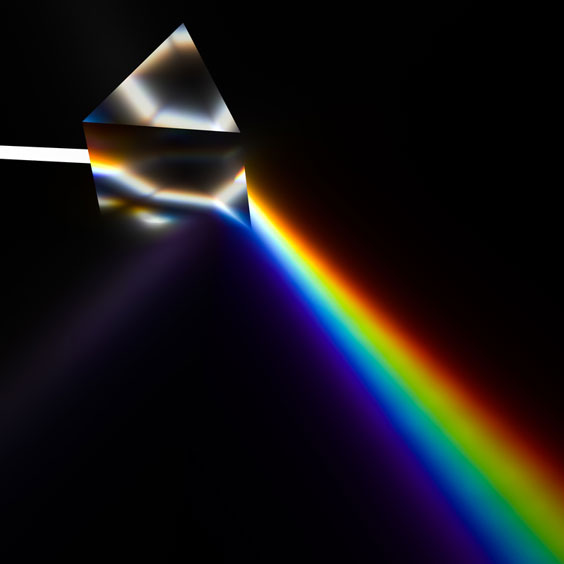 White Light Refracted in a Prism