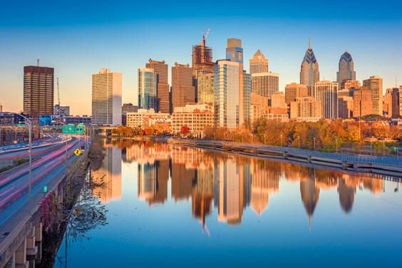 Philadelphia, Pennsylvania Skyline facing the Schuylkill River