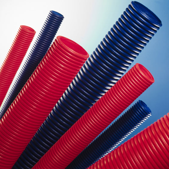 Blue and Red Plastic Pipes