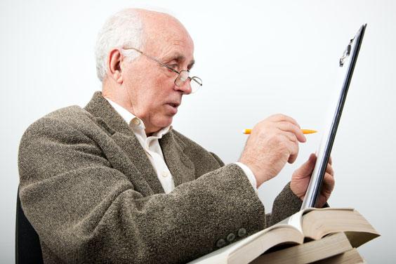 College Professor Preparing a Lesson