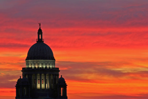 Providence, Rhode Island Capitol at Sunset