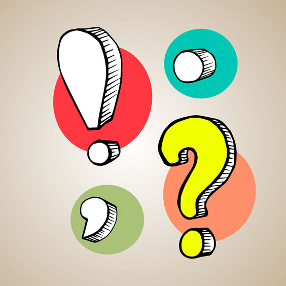 3D Punctuation Marks, with Question Mark