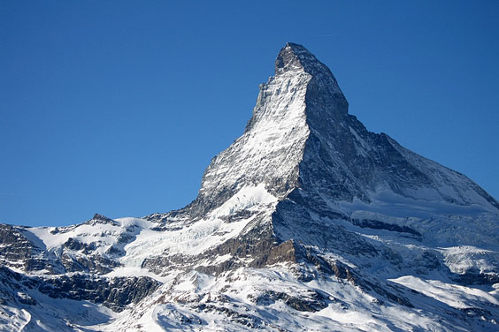 Renowned Matterhorn Summit in the Pennine Alps