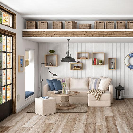 Contemporary Furnishings in a Scandinavian Flat