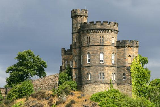 Castle in Edinburgh, Scotland