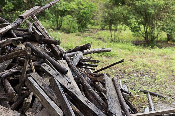 Scrap Wood, Piled in a Backyard