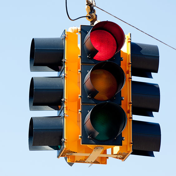 Traffic Signal against a Blue Sky