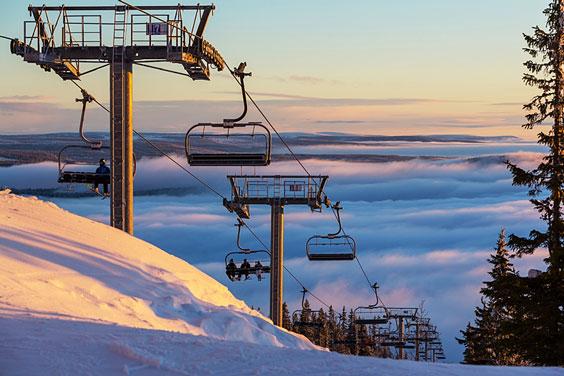Ski Lift at a Mountain Ski Resort