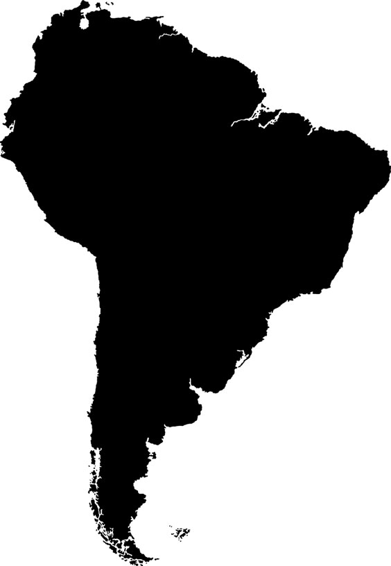 South America Outline Map