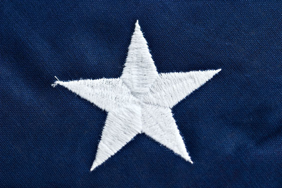 State Star in the American Flag