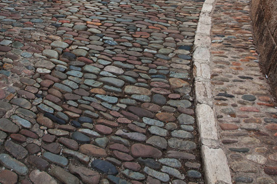 Cobblestone Street and Sidewalk