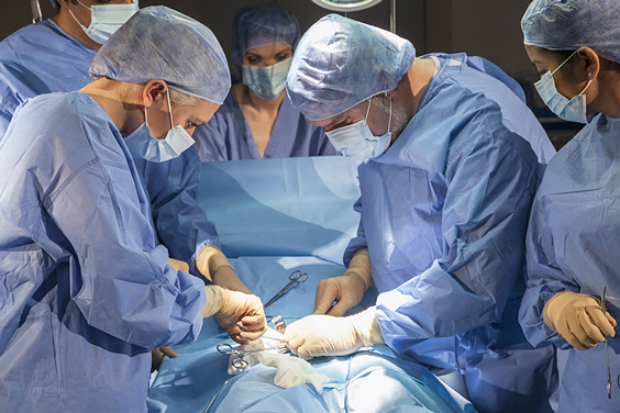 Surgical Team Performing Surgery