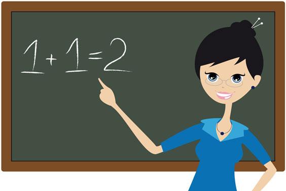 Teacher Teaching Basic Arithmetic
