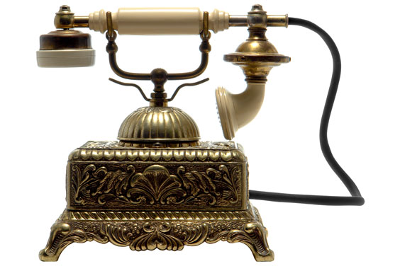 Antique Brass Cradle Telephone