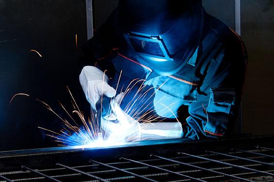 Welder Welding Steel Rebar