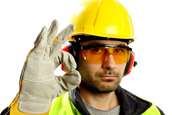 Worker Wearing Protective Gear