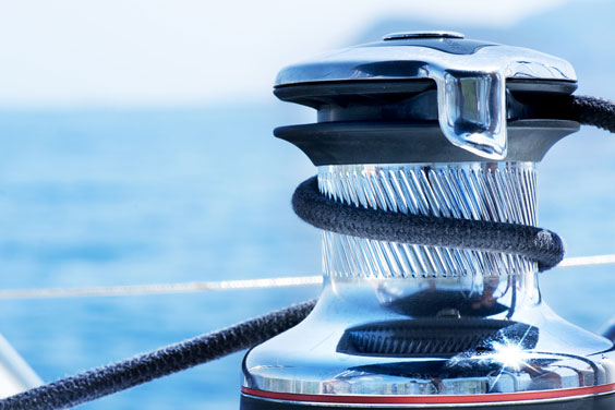 Yacht Winch and Rope